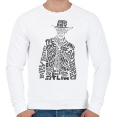 PRINTFASHION Cowboy - Férfi pulóver - Fehér