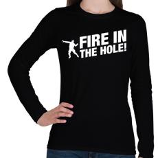 PRINTFASHION CS:GO - TŰZ! - Női hosszú ujjú póló - Fekete