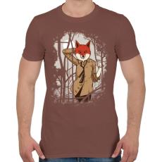 PRINTFASHION Csábító róka - Férfi póló - Mogyoróbarna