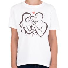 PRINTFASHION Család - Gyerek póló - Fehér