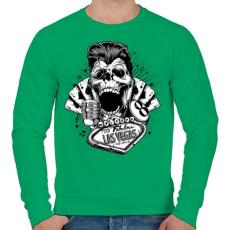 PRINTFASHION Csaló koponya - Férfi pulóver - Zöld