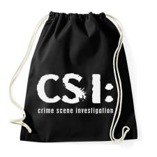 PRINTFASHION csi-1-1-white - Sportzsák, Tornazsák - Fekete tornazsák