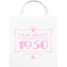 PRINTFASHION csillag-1950-pink - Vászontáska - Fehér