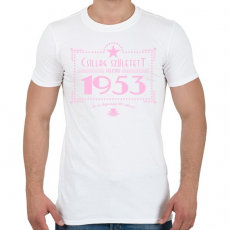 PRINTFASHION csillag-1953-pink - Férfi póló - Fehér