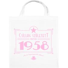 PRINTFASHION csillag-1958-pink - Vászontáska - Fehér kézitáska és bőrönd