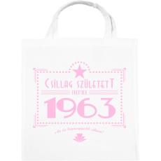 PRINTFASHION csillag-1963-pink - Vászontáska - Fehér
