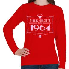 PRINTFASHION csillag-1964-pink - Női pulóver - Piros