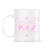 PRINTFASHION csillag-1967-pink - Bögre - Fehér