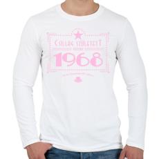 PRINTFASHION csillag-1968-pink - Férfi hosszú ujjú póló - Fehér