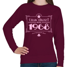 PRINTFASHION csillag-1968-pink - Női pulóver - Bordó