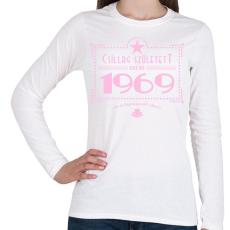 PRINTFASHION csillag-1969-pink - Női hosszú ujjú póló - Fehér