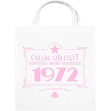 PRINTFASHION csillag-1972-pink - Vászontáska - Fehér
