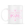 PRINTFASHION csillag-1976-pink - Bögre - Fehér