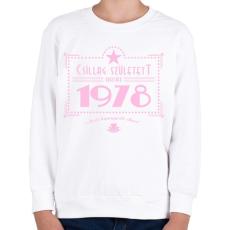 PRINTFASHION csillag-1978-pink - Gyerek pulóver - Fehér