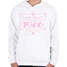 PRINTFASHION csillag-1986-pink - Gyerek kapucnis pulóver - Fehér