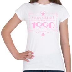 PRINTFASHION csillag-1990-pink - Női póló - Fehér