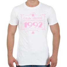 PRINTFASHION csillag-1992-pink - Férfi póló - Fehér