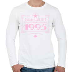 PRINTFASHION csillag-1995-pink - Férfi hosszú ujjú póló - Fehér