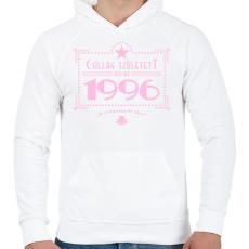 PRINTFASHION csillag-1996-pink - Férfi kapucnis pulóver - Fehér