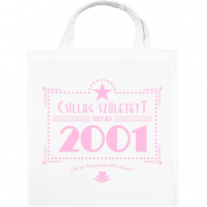 PRINTFASHION csillag-2001-pink - Vászontáska - Fehér