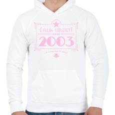 PRINTFASHION csillag-2003-pink - Férfi kapucnis pulóver - Fehér