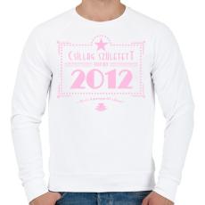PRINTFASHION csillag-2012-pink - Férfi pulóver - Fehér