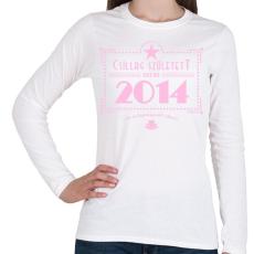 PRINTFASHION csillag-2014-pink - Női hosszú ujjú póló - Fehér