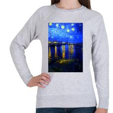 PRINTFASHION Csillagos ég a Rajna felett - Női pulóver - Sport szürke