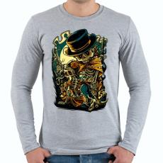 PRINTFASHION Csont bandita - Férfi hosszú ujjú póló - Sport szürke