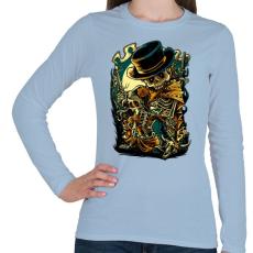 PRINTFASHION Csont bandita - Női hosszú ujjú póló - Világoskék