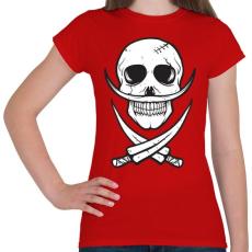 PRINTFASHION Csontbajusz - Női póló - Piros