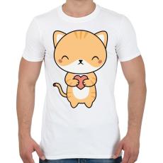 PRINTFASHION Cuki cica - Férfi póló - Fehér