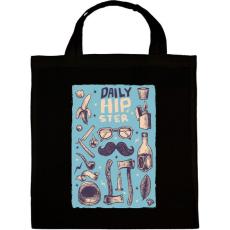 PRINTFASHION Daily Hipster - Vászontáska - Fekete