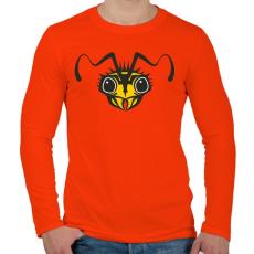 PRINTFASHION darázs - Férfi hosszú ujjú póló - Narancs