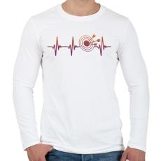 PRINTFASHION Darts szívritmus - Férfi hosszú ujjú póló - Fehér