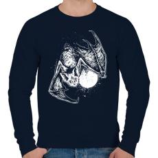PRINTFASHION Denevér - Férfi pulóver - Sötétkék