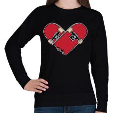 PRINTFASHION Deszka szerelem - Női pulóver - Fekete