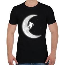PRINTFASHION Deszkázás a holdon - Férfi póló - Fekete