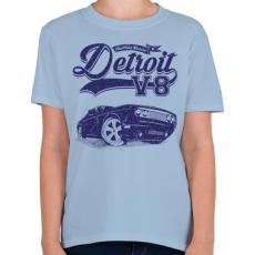 PRINTFASHION Detroit V8 - Gyerek póló - Világoskék