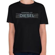 PRINTFASHION Diesel - Gyerek póló - Fekete