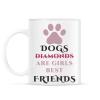 PRINTFASHION Dog best friend - Bögre - Fehér