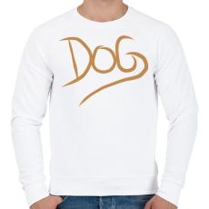 PRINTFASHION Dog Lover - Férfi pulóver - Fehér
