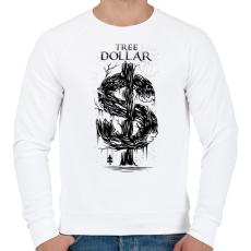 PRINTFASHION Dollár fa - fekete - Férfi pulóver - Fehér