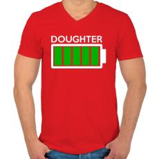 PRINTFASHION DOUGHTER - Férfi V-nyakú póló - Piros