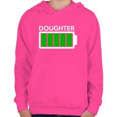 PRINTFASHION DOUGHTER - Gyerek kapucnis pulóver - Fukszia