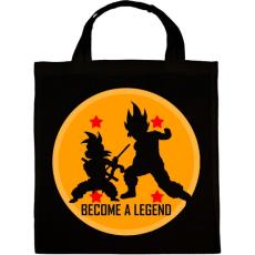 PRINTFASHION Dragon Ball - Légy Legenda! - Vászontáska - Fekete