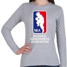 PRINTFASHION Dragonball kosárlabda - Női hosszú ujjú póló - Sport szürke