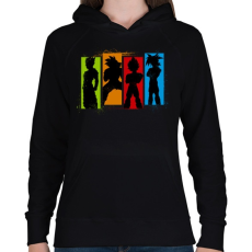 PRINTFASHION Dragonball Saiyan család - Női kapucnis pulóver - Fekete