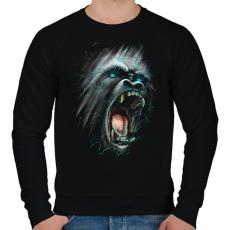 PRINTFASHION Dühöngő majom - Férfi pulóver - Fekete