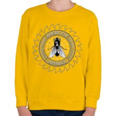 PRINTFASHION Dühös légy - Gyerek pulóver - Sárga